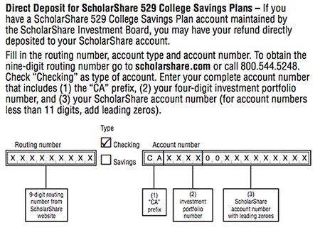 Direct Deposit for ScholarShare 529 College Savings Plans